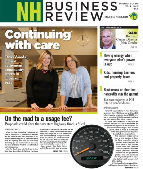 Cover Page of NH Business Review featuring RiverWoods